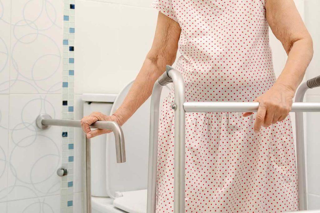 avoid bathroom falls for elderly