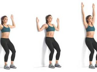 Wall Slide Posture Exercise